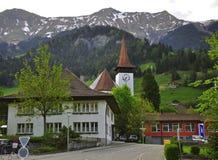 Ελβετικό χωριό Στοκ εικόνα με δικαίωμα ελεύθερης χρήσης
