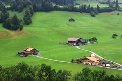 Ελβετικό χωριό Στοκ φωτογραφία με δικαίωμα ελεύθερης χρήσης