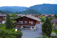 ελβετικό χωριό στοκ φωτογραφίες