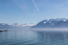 Ελβετικό riviera την άνοιξη Στοκ φωτογραφία με δικαίωμα ελεύθερης χρήσης