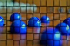 Ελεγμένα μπλε μάρμαρα Στοκ Εικόνες