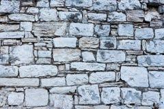 Ελεγμένος άσπρος τοίχος 1 πετρών στοκ φωτογραφία