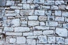 Ελεγμένος άσπρος τοίχος 2 πετρών στοκ εικόνα
