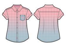 Ελεγμένο θερινό πουκάμισο με την επίδραση κλίσης Στοκ φωτογραφίες με δικαίωμα ελεύθερης χρήσης