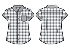 Ελεγμένο θερινό πουκάμισο Στοκ εικόνες με δικαίωμα ελεύθερης χρήσης