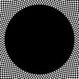 Ελεγμένο κυκλικό στοιχείο Αφηρημένος μονοχρωματικός γραφικός με το squ ελεύθερη απεικόνιση δικαιώματος