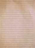 Ελεγχμένο έγγραφο σημειώσεων Στοκ Φωτογραφίες