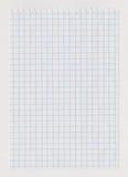 Ελεγχμένο φύλλο σημειωματάριων Στοκ εικόνες με δικαίωμα ελεύθερης χρήσης
