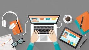 Ε-εκμάθηση και εκπαίδευση ελεύθερη απεικόνιση δικαιώματος