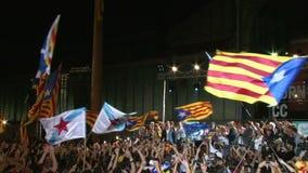 Ελευθερία και ανεξαρτησία για τον εορτασμό της Καταλωνίας απόθεμα βίντεο