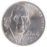 Ελευθερία νομισμάτων πέντε σεντ Στοκ Φωτογραφίες