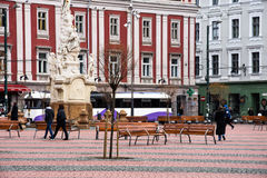 Ελευθερία τετραγωνικό Piata Libertatii Στοκ φωτογραφία με δικαίωμα ελεύθερης χρήσης