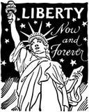 Ελευθερία τώρα και για πάντα διανυσματική απεικόνιση