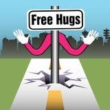 ελεύθερα αγκαλιάσματα απεικόνιση αποθεμάτων