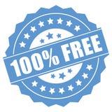 100 ελεύθερα τοις εκατό Στοκ Εικόνες
