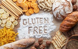 Ελεύθερα τρόφιμα γλουτένης Στοκ εικόνες με δικαίωμα ελεύθερης χρήσης