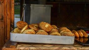 Ελεύθερα donuts ζάχαρης στην τοπική αγορά Στοκ φωτογραφίες με δικαίωμα ελεύθερης χρήσης