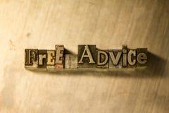 Ελεύθερες συμβουλές - letterpress μετάλλων γράφοντας σημάδι Στοκ Εικόνα
