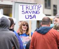Ελεύθερη λεκτική φιλονικία του Ντόναλντ Τραμπ στο Μπέρκλεϋ Καλιφόρνια Στοκ Φωτογραφία
