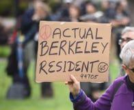 Ελεύθερη λεκτική φιλονικία του Ντόναλντ Τραμπ στο Μπέρκλεϋ Καλιφόρνια Στοκ Φωτογραφίες
