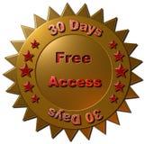 Ελεύθερη πρόσβαση (30 ημέρες) Στοκ Εικόνες