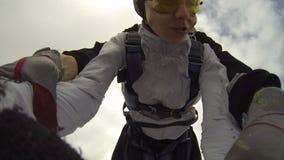 ελεύθερη πτώση με αλεξίπτ& απόθεμα βίντεο