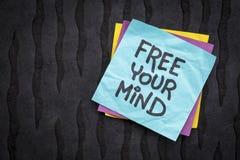 Ελεύθερος η σημείωση υπενθυμίσεων μυαλού σας Στοκ Εικόνα