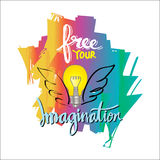Ελεύθερος η φαντασία σας διανυσματική απεικόνιση
