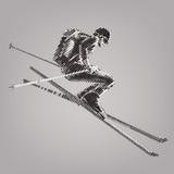 Ελεύθερος κάνει σκι ελεύθερη απεικόνιση δικαιώματος