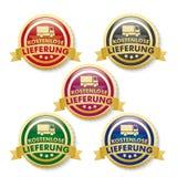 Ελεύθερος στέλνοντας 5 χρυσά κουμπιά Στοκ Εικόνες