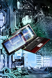 Ελεύθερος υπολογιστής WI-Fi Τεχνολογία παραγωγής Διαδίκτυο Στοκ εικόνα με δικαίωμα ελεύθερης χρήσης