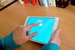 Ελεύθερο δίκτυο Skype σύνδεσης Στοκ φωτογραφία με δικαίωμα ελεύθερης χρήσης