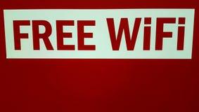 Ελεύθερο σημάδι Wifi Στοκ φωτογραφία με δικαίωμα ελεύθερης χρήσης