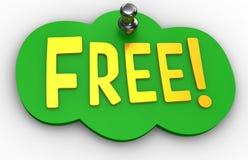Ελεύθερο σημάδι Word καρφιτσών ιστοχώρου Στοκ φωτογραφία με δικαίωμα ελεύθερης χρήσης