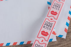 Ελεύθερο φιλί Στοκ φωτογραφία με δικαίωμα ελεύθερης χρήσης