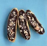 Ελεύθερο biscotti αμυγδάλων σοκολάτας γλουτένης Στοκ Εικόνες
