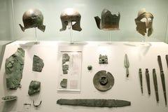 Ελληνικά εκθέματα στο μουσείο της αρχαιολογίας, Αθήνα, Ελλάδα Στοκ Φωτογραφίες