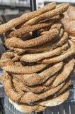 Ελληνικά bagels (koulouri) στοκ εικόνα με δικαίωμα ελεύθερης χρήσης
