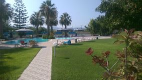 ελληνικές καλοκαιρινές διακοπές ξενοδοχείων Στοκ Εικόνα
