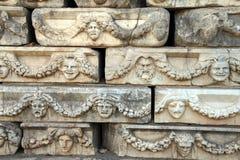 Ελληνικές μάσκες θεάτρων Στοκ εικόνες με δικαίωμα ελεύθερης χρήσης