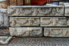 Ελληνικές μάσκες θεάτρων Στοκ Εικόνες