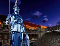Ελληνική Αθηνά στο θέατρο Στοκ φωτογραφίες με δικαίωμα ελεύθερης χρήσης