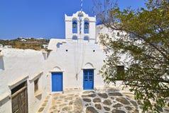 Ελληνική εκκλησία σε Apollonia Σίφνος Ελλάδα Στοκ φωτογραφία με δικαίωμα ελεύθερης χρήσης