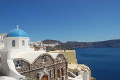 ελληνική θάλασσα santorini βασικών νησιών της Ελλάδας στην όψη Στοκ φωτογραφία με δικαίωμα ελεύθερης χρήσης