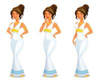 Ελληνική θεά της ομορφιάς Aphrodite απεικόνιση αποθεμάτων