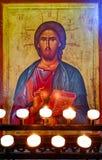 Ελληνική θρησκευτική τέχνη εικονιδίων Στοκ εικόνα με δικαίωμα ελεύθερης χρήσης