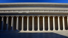 Ελληνική κιονοστοιχία, λεγεώνα της τιμής, Σαν Φρανσίσκο, σκιά και φως Στοκ φωτογραφία με δικαίωμα ελεύθερης χρήσης