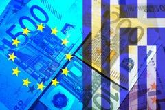 Ελληνική κρίση Στοκ Φωτογραφίες