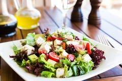 ελληνική μεσογειακή σαλάτα Στοκ εικόνες με δικαίωμα ελεύθερης χρήσης