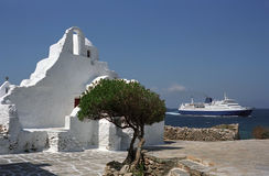 Ελληνική ορθόδοξη εκκλησία Paraportiani Στοκ Φωτογραφία